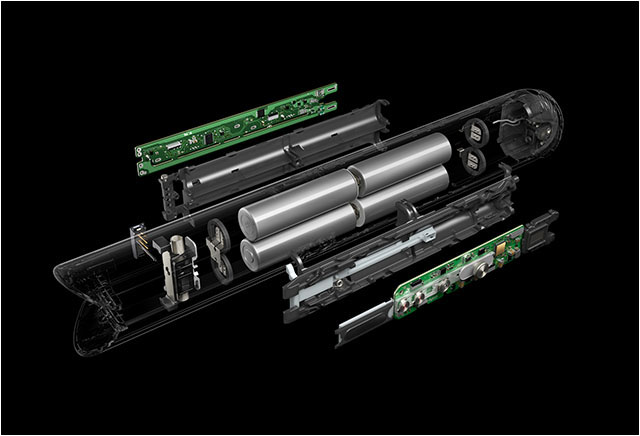 Gros plan de la technologie de la batterie